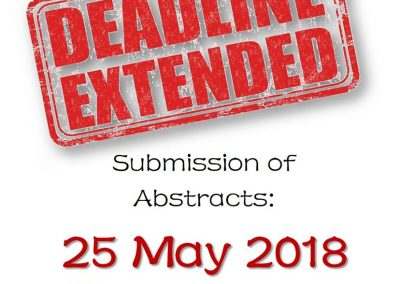 Deadline for Submission of Abstracts Extended