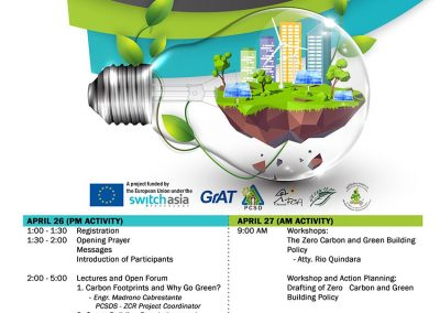 Orientation Workshop on Zero Carbon and Green Building Policy Program of Activities