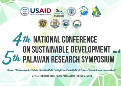 PRESS RELEASE: 4th National Conference on Sustainable Development & 5th Palawan Research Symposium
