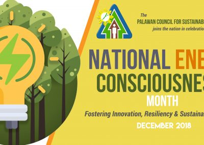 The Palawan Council for Sustainable Development joins the nation in the celebration of the National Energy Consciousness Month
