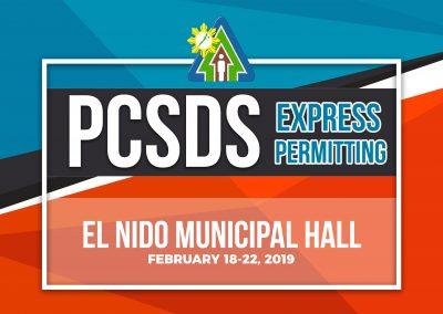 PCSDS Express Permitting: EL NIDO