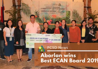 Aborlan wins Best ECAN Board 2019