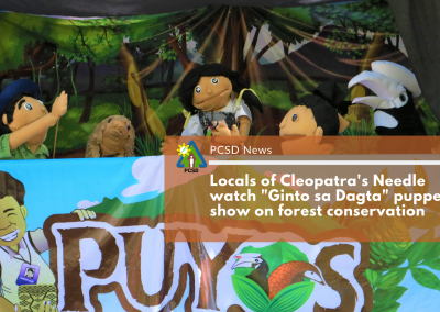 "Locals of Cleopatra's Needle watch ""Ginto sa Dagta"" puppet show on forest conservation"