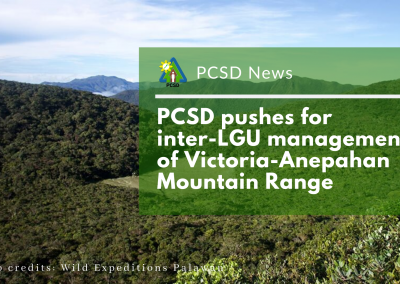 PCSD pushes for inter-LGU management of Victoria-Anepahan Mountain Range