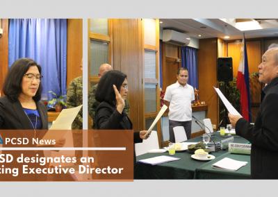 PCSD designates an Acting Executive Director