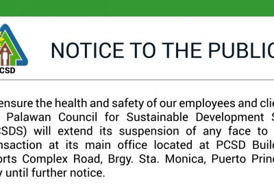 NOTICE TO THE PUBLIC
