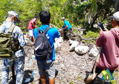 Giant Clam shells and freshly cut mangroves seized in Johnson Island, Roxas, Palawan