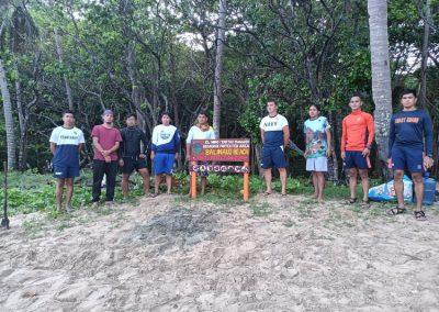 PCSDS DMD-Calamian joins the Habitat Monitoring of Turtle Nesting Site in Balinaud Beach, El Nido
