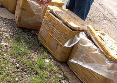 Four boxes of Suno seized by PCSDS WTMU at PPC International Airport