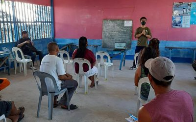 "PCSDS-DMD North joins ""Taklobo"" IEC Activity in Green Island, Roxas, Palawan"
